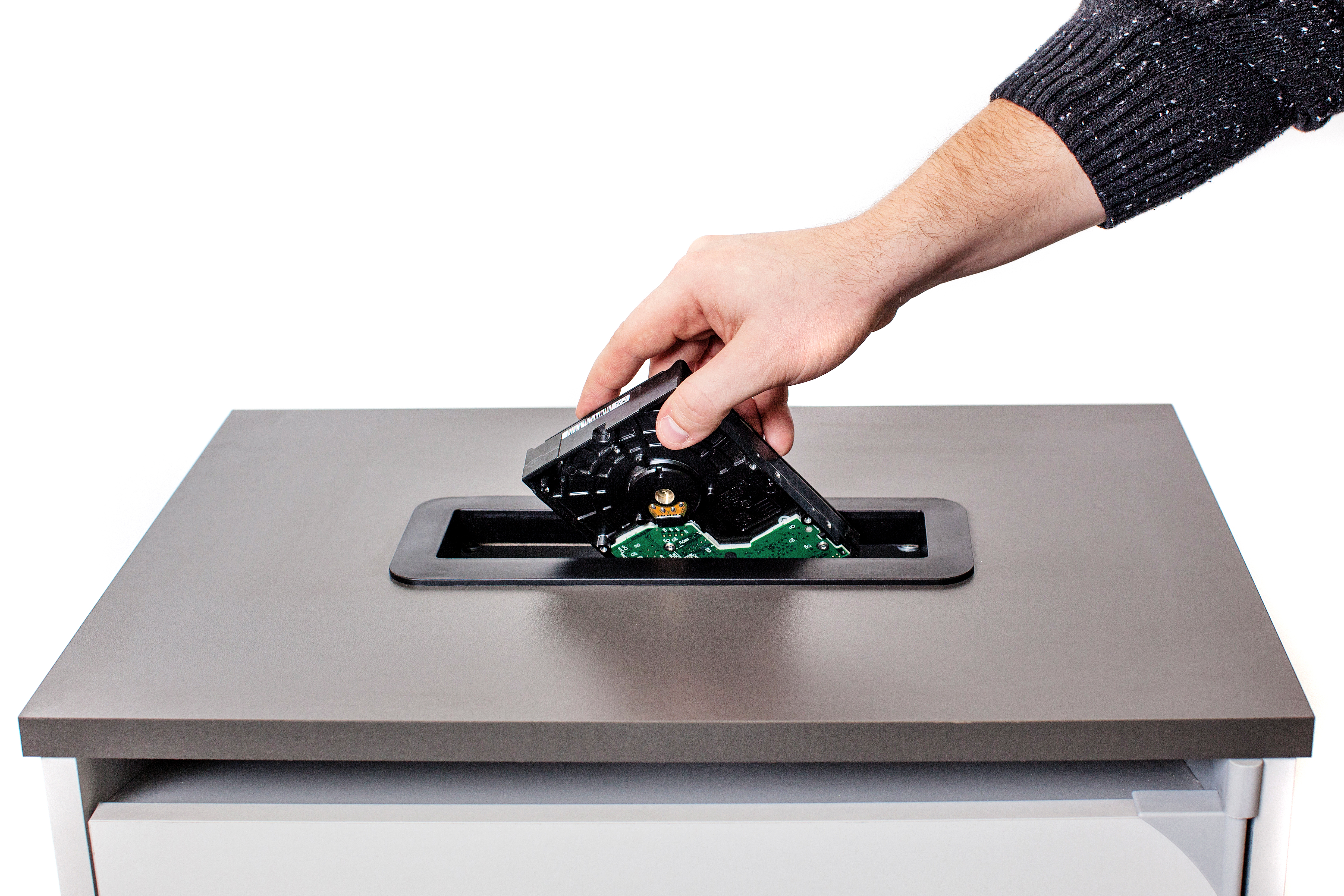 Placing hard Drive in E-Recycling Container - All Source